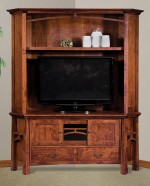 Artesa Corner Media Console w/Hutch  -  Cat No: 504-FVE053A-107  -  Click To Order  -  ID: 7467