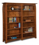 Boulder Creek Double Bookcase  -  Cat No: 503-FVB012BC6FT-107  -  Click To Order  -  ID: 8824