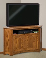 Mission Corner Plasma TV Stand  -  Cat No: 504-FVE033M-107  -  Click To Order  -  ID: 4357