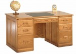 Traditional Double Pedestal Desk  -  Cat No: 451-TDP2858-73  -  Click To Order  -  ID: 9999