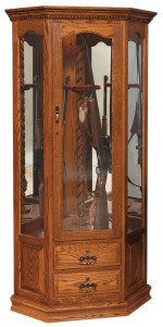 Corner Swivel Gun Cabinet  -  Cat No: 452-GO-5002-9  -  Click To Order  -  ID: 4320