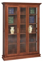 Double Door Picture Frame Deluxe Bookcase  -  Cat No: 455-GO-3310-9  -  Click To Order  -  ID: 7212