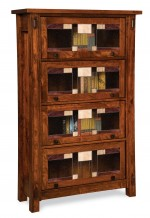 Craftsman Barrister Bookcase  -  Cat No: 503-FVBR4DRCM-107  -  Click To Order  -  ID: 9691
