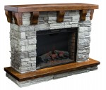 Rock Ledge Fireplace  -  Cat No: 325-ROLEDFP33-114  -  Click To Order  -  ID: 8997