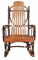 Jumbo Hickory Rocker  -  Cat No: H260-104-135-O  -  Click To Order  -  ID: 8528