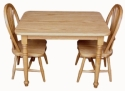 Child's Rectangular Table & Sheaf Chair  -  Cat No: 110-C080931-C080903-103-O  -  Click To Order  -  ID: 7830
