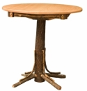 Hickory Round Pub Table  -  Cat No: H100-252-135-O  -  Click To Order  -  ID: 8559