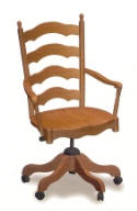Deluxe Ladder Back Office Chair  -  Cat No: 203-5032A-7  -  Click To Order  -  ID: 2063