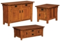 Elliot Mission Enclosed Occasional Tables  -  Cat No: 301-ELLCABEND-115  -  Click To Order  -  ID: 8345