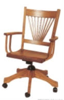 HS Fan Tail Desk Chair  -  Cat No: 203-AC122ADGL-38  -  Click To Order  -  ID: 5574