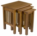 Mission Nesting Tables  -  Cat No: 307-N050210-103-O  -  Click To Order  -  ID: 7965