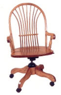 Bow Sheaf Desk Chair  -  Cat No: 203-1530A-39  -  Click To Order  -  ID: 1018