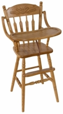 Wheat Post Highchair  -  Cat No: 215-H093709-103-O  -  Click To Order  -  ID: 7877
