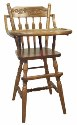 Acorn/Plain High Chair  -  Cat No: 215-58AHC-23  -  Click To Order  -  ID: 1076