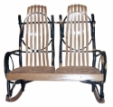 Double Hickory Rocker  -  Cat No: H260-105-135-O  -  Click To Order  -  ID: 8529