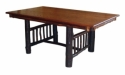 Hickory Mission Trestle Table  -  Cat No: H101-211-135-O  -  Click To Order  -  ID: 8555