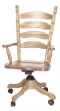 Ladder Back Office Chair  -  Cat No: 203-AC8AD4B-38  -  Click To Order  -  ID: 2200